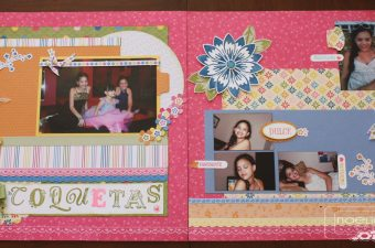 Double Scrapbooking Layout Ice Cream Parlor