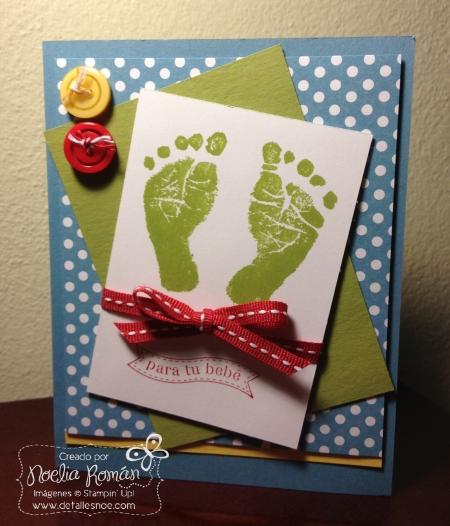 Baby Prints, Tarjeta de Bebé, Noelia Román Demostradora de Stampin'Up! en Puerto Rico